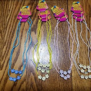 Beaded Hibiscus Necklace Lot